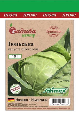 Капуста білоголова ІЮНЬСЬКА, 10 г. СЦ Традиція, фото 2