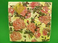 Салфетка (ЗЗхЗЗ, 20шт) Luxy Живопись из роз (1 пач)