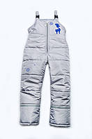 Детские зимние штаны для мальчика полукомбинезон