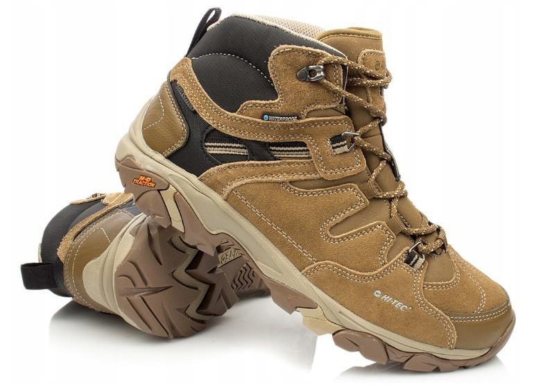 Треккинговые водонипроницаемые зимние мужские ботинки HI-TEC RAVUS из натуральной кожи, р.40-46