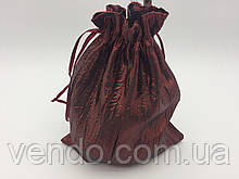 Чехол для карт таро, мешочек из жатой парчи Бордовый,14х20 см