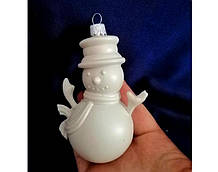 Подвеска Снеговик пластик серый заготовка для новогодней игрушки
