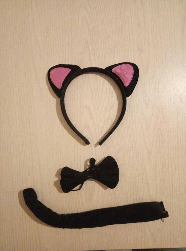 Карнавальный набор Кошки (ушки,бантик,хвостик)