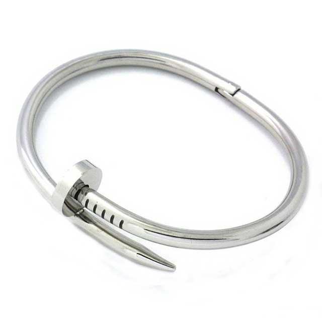 Женский браслет Картье - C гвоздем (Серебристый)