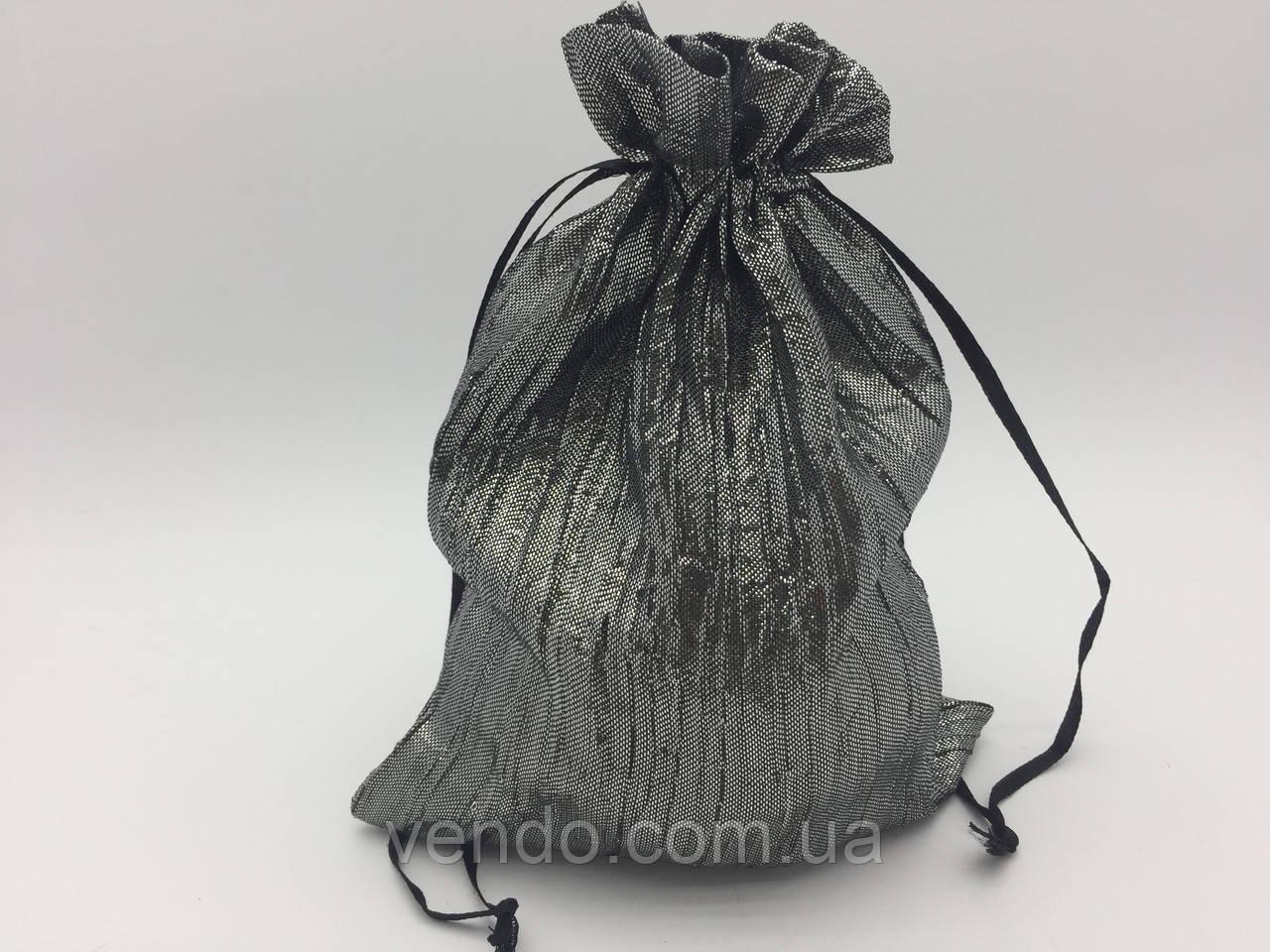 Чехол для карт таро, мешочек из жатой парчи Серый 14х20 см