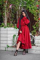 Шикарное длинное платье в горошек, фото 1