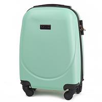 Дорожный чемодан пластиковый Wings 310 маленький ручная кладь на 4 колесах мята