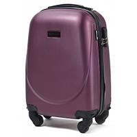 Дорожный чемодан пластиковый Wings 310 маленький ручная кладь на 4 колесах бордовый
