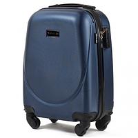 Дорожный чемодан пластиковый Wings 310 маленький ручная кладь на 4 колесах синий