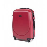 Дорожный средний чемодан Wings 310 на 4х колесах красный