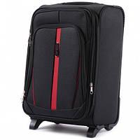 Дорожный чемодан тканевый Wings 1706 ручная кладь 2 колеса черный