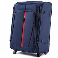 Дорожный чемодан тканевый Wings 1706 ручная кладь 2 колеса синий