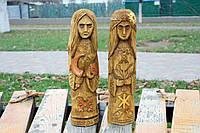Статуетки-талісмани з дерева словянських богинь ЖИВА та МОРАНА 25 см, фото 1