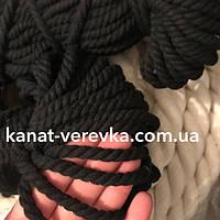 Цветная веревка из хлопка 6 мм – 100 м, крученая, фото 1