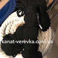 Цветная веревка из хлопка 6 мм – 50 м, крученая