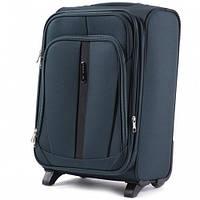 Дорожный чемодан тканевый Wings 1706 ручная кладь 2 колеса зеленый