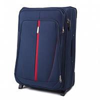 Дорожный чемодан тканевый Wings 1706 большой 2 колеса синий