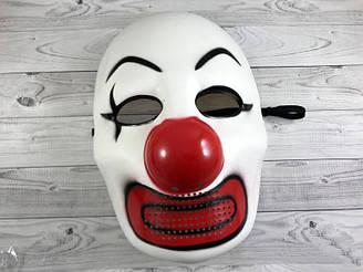 Карнавальная маска Злой клоун на хеллоуин 18 см 23 см