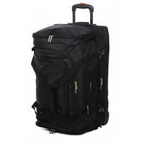 Дорожная сумка на колесах airtex 610 черная