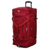 Дорожная сумка на колесах airtex 610 бордовая