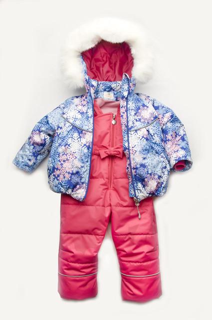 Зимний костюм — куртка и полукомбинезон — для девочки
