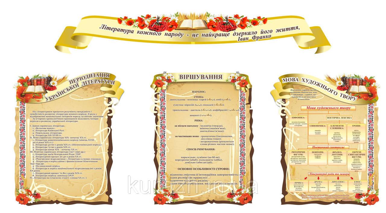 Набір стендів для кабінету української літератури