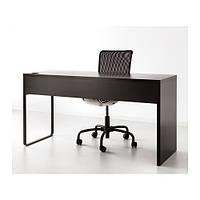 """""""МИККЕ"""" Письменный стол, черно-коричневый (142х75х50)"""