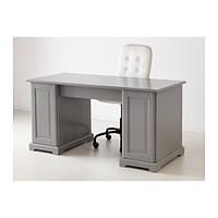 """IKEA """"ЛИАТОРП"""" Письменный стол, серый"""