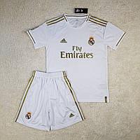 Детская футбольная форма Реал Мадрид белая сезон 2019-20
