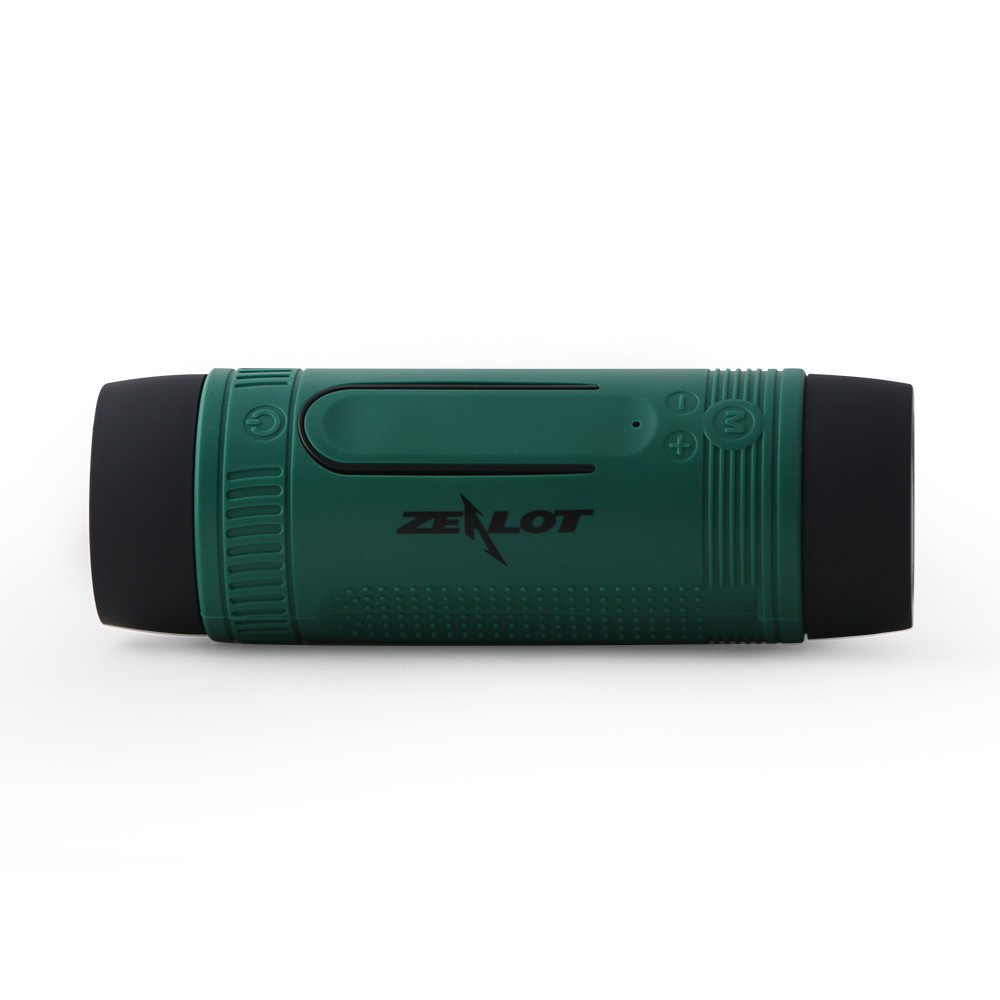 Беспроводная Bluetooth колонка ZEALOT S1 с функциями MP3 плеера и фонариком. Зеленая