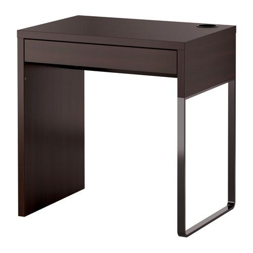 """ИКЕА """"МИККЕ"""" Письменный стол, черно-коричневый, фото 1"""