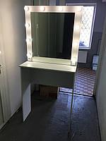 Стол для визажиста (1750/800/400), рабочее место визажиста,столик для макияжа, стол для макияжа с подсветкой.