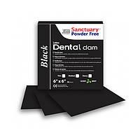 Платки для коффердама, черные , тонкие (BLACK, MEDIUM) Dental Dam (Sanctuary)