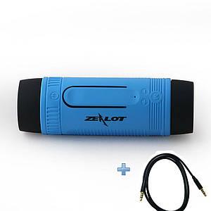 Вело фонарик с беспроводной Bluetooth колонкой ZEALOTS1 с функциямиMP3 плеера + AUX кабель