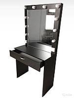 Стол для визажиста  черный (1750/800/430), рабочее место визажиста,столик для макияжа.
