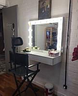 Стол для визажиста (1000/1100/420), рабочее место визажиста,столик для макияжа, стол для макияжа с подсветкой.