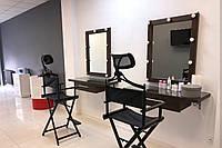 Стол для визажиста (1800/1000/420), рабочее место визажиста,столик для макияжа, стол для макияжа с подсветкой.