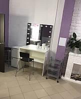 Стол для визажиста (18000/800/420), рабочее место визажиста,столик для макияжа, стол для макияжа с подсветкой.