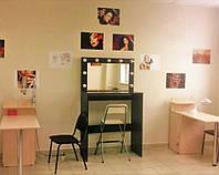 Стол для визажиста  черный (1800/800/400 мм), рабочее место визажиста,столик для макияжа.