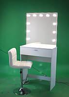 Стол для визажиста  черный (1750/8100/440 мм ), рабочее место визажиста,столик для макияжа.