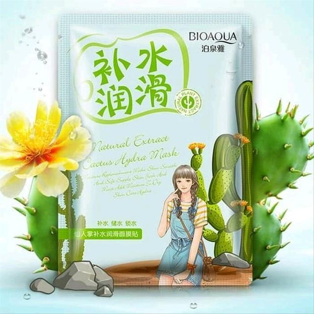 BIOAQUA Natural Extract Cactus Hydra Mask