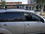 Ветровики, дефлекторы окон Mitsubishi Outlander XL 2007-2012 (Hic), фото 2