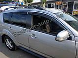 Ветровики, дефлекторы окон Mitsubishi Outlander XL 2007-2012 (Hic), фото 4