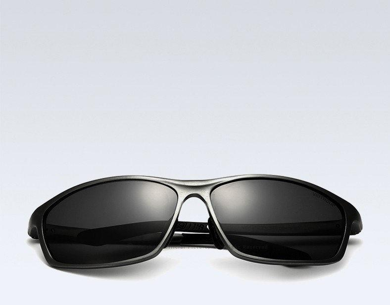 Очки мужские солнцезащитные поляризованные VEITHDIA. Оправа серая, стекла серые