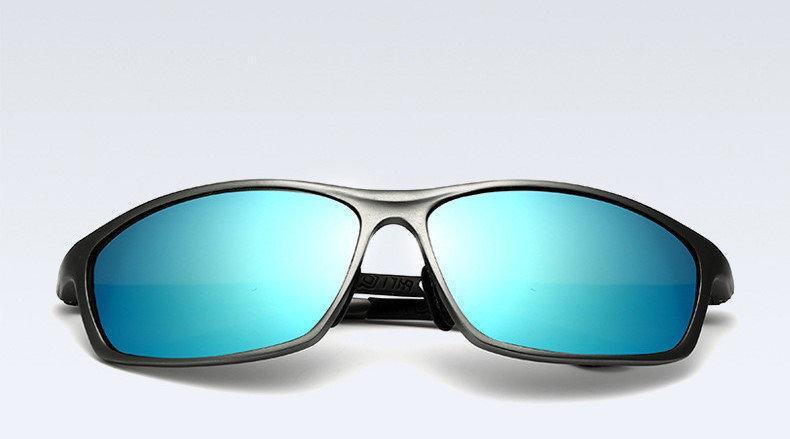 Окуляри чоловічі сонцезахисні поляризовані VEITHDIA. Оправа сіра, скла сині