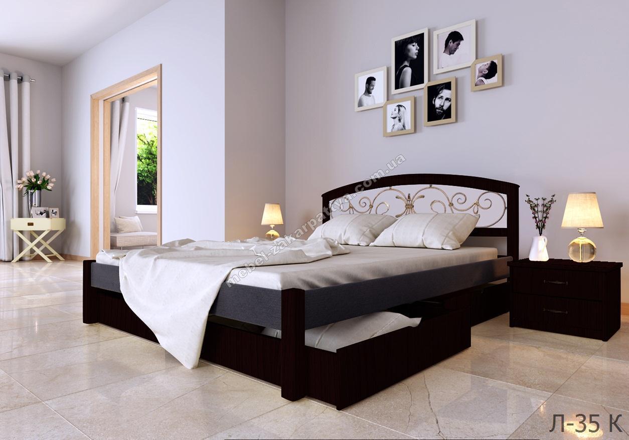 Кровать деревянная Л-35 КК