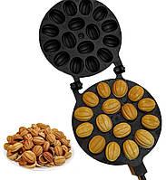 Форма для выпечки орешков Орешница с антипригарным / тефлоновым покрытием — 16 орехов