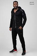 Костюм спортивный мужской Adidas теплый трикотажный Черный