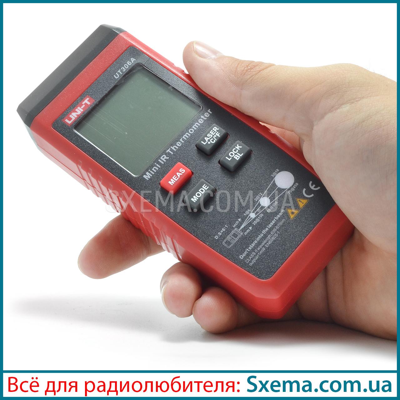 Пирометр инфракрасный UNI-T UT-306A бесконтактный термометр, от-35 до +300°C