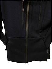 Костюм спортивный мужской Adidas теплый трикотажный Черный, фото 3